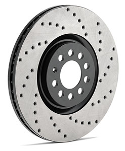 StopTech SportStop Drilled Rotor - Front Pair